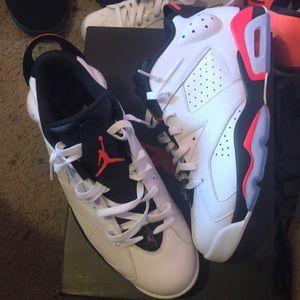NEW White infrared Jordan 6s sz 11